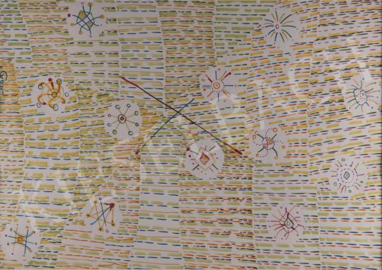 Eladó Gyarmathy Tihamér - Bigyók a mezőn, 1975 festménye