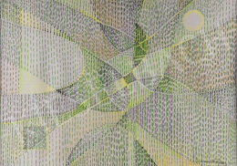 Gyarmathy Tihamér - Tavaszi zöld mező kvantumátirata, 1989