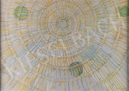 Eladó Gyarmathy Tihamér - Sugárzás a kozmozban, 1979 festménye