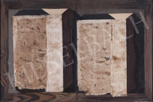 Eladó Szikora Tamás - Két doboz kódex lapokon, 2008 festménye