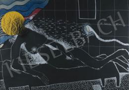 Wahorn András - Nő a fürdőszobában, 1984