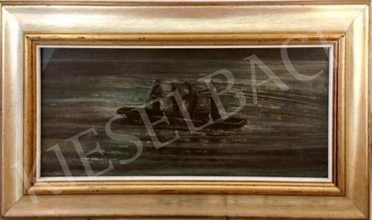 Eladó id. Holler László - Tiszai halászok, 1983 festménye