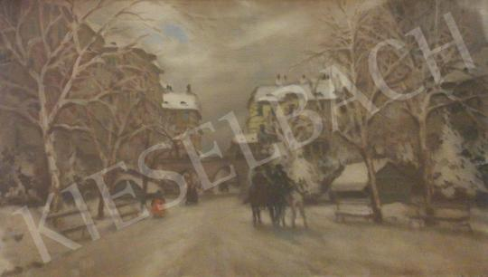 For sale  Berkes, Antal - Winter Street Scene 's painting