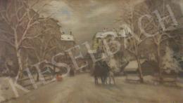 Berkes Antal - Téli utcakép