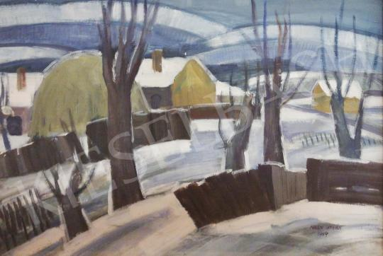 For sale Nagy, István - Snowy Mountainside, 1969 's painting