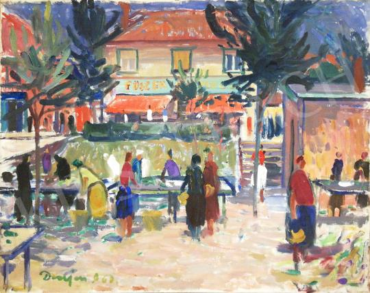 Eladó Demjén Attila - Piaci forgatag festménye
