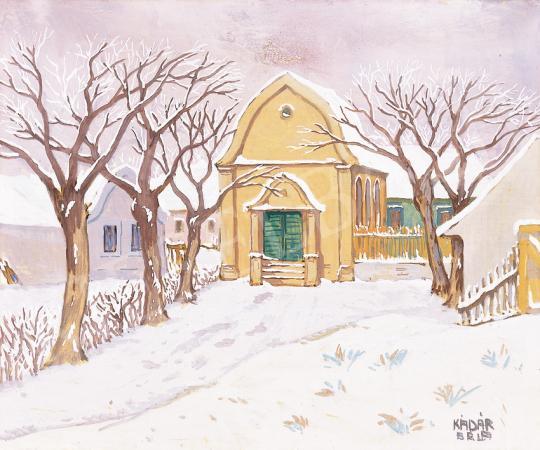 Eladó  Kádár Béla - Téli táj festménye