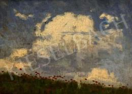 Balla Béla - Pipacsos rét bárányfelhőkkel