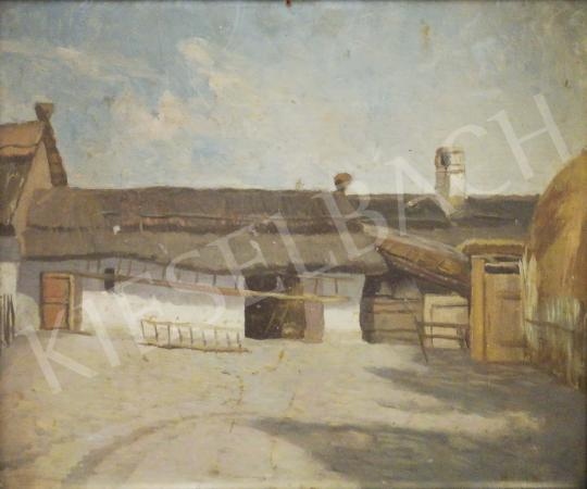 Eladó Bihari Sándor - Tanyasi udvar festménye