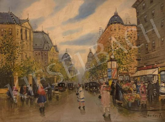 For sale  Berkes, Antal - Street Scene (Urban Swirl) 's painting