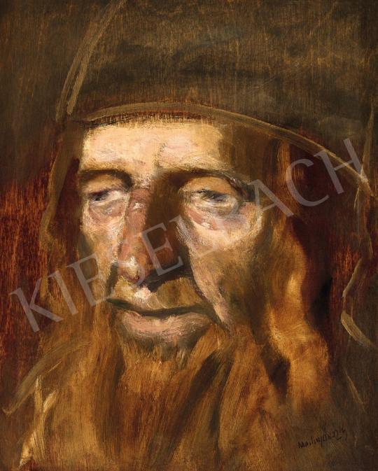 Eladó Mednyánszky László - Rabbi portré festménye