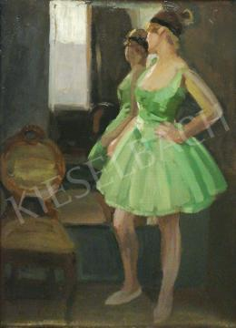 Pap, Emil - Ballerina in Green Silk Dress