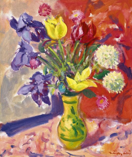 Márffy Ödön - Tavaszi csokor festménye