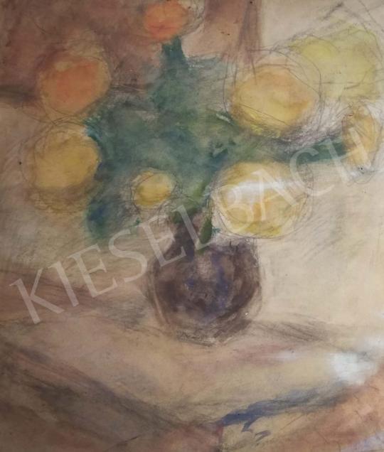Czóbel Béla - Virágok vázában festménye