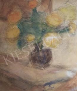 Czóbel Béla - Virágok vázában