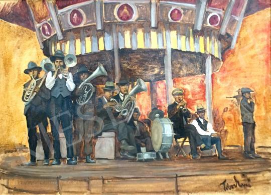 Tibor Ernő - Fúvós zenekar festménye