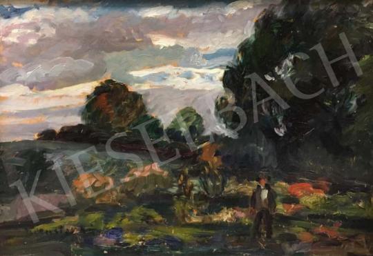 Kernstok Károly - Szabadban festménye
