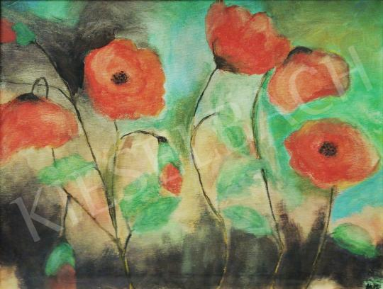 For sale  Elizabeth Eggenberg - Poppies (Hommage a Klimt) 's painting