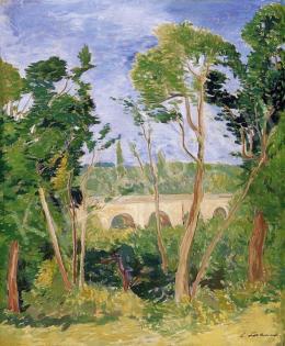 Lahner, Emil - Landscape with a Bridge