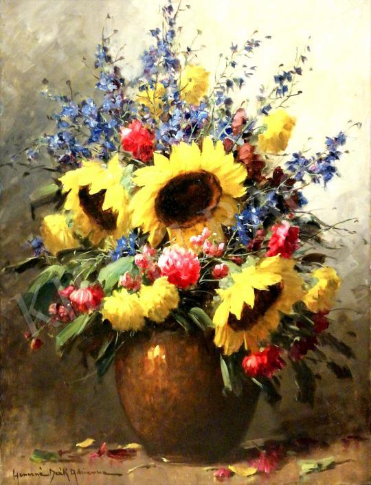 For sale  Henczné Deák, Adrienne - Flower Still-Life 's painting