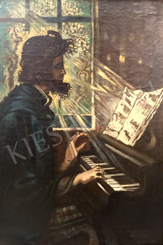 Remsey, Jenő György - By the piano painting