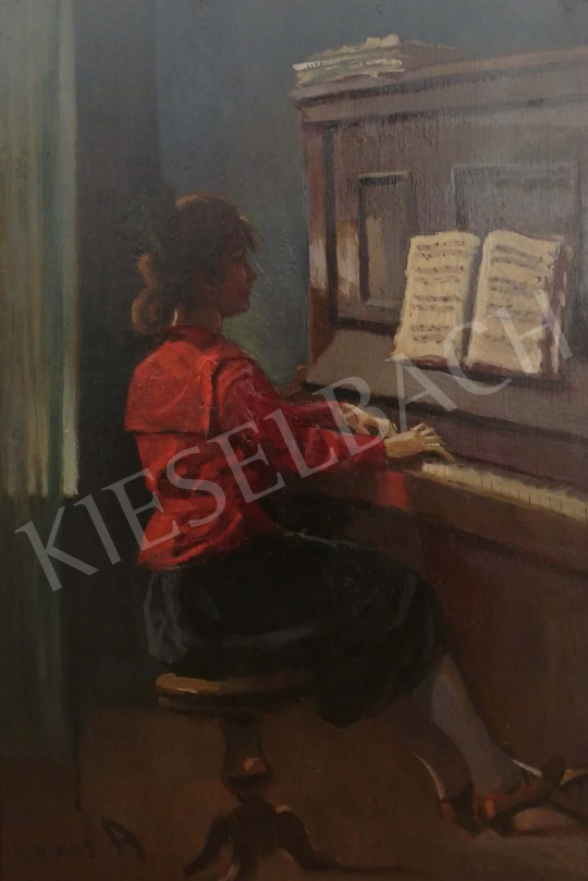 For sale Lakos, Alfréd - Girl with piano 's painting