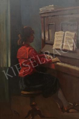 Lakos Alfréd - Lány zongoránál