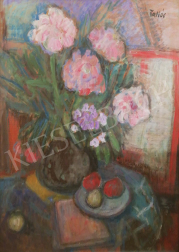 Tallós, Ilona - Still life with flowers in studio