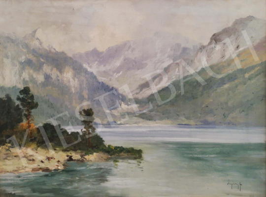 For sale Neogrády, László - Mountain lake 's painting