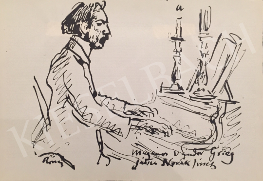 Rippl-Rónai József - Magányos vándor Grieg Játsz Novák József festménye