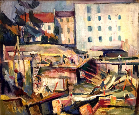 For sale  Börzsönyi Kollarits, Ferenc - Construction 's painting