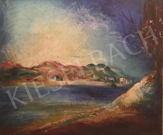 Istókovits Kálmán - Vízparton festménye