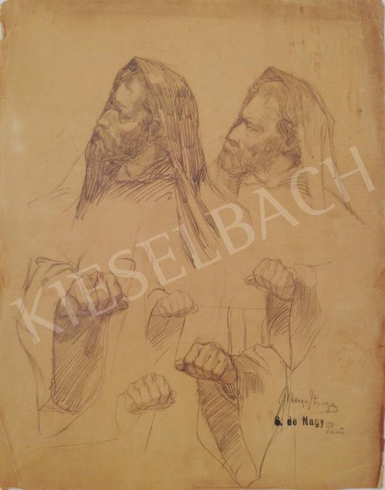 Eladó  Gyügyei Nagy Zsigmond - Tanulmány fejek festménye