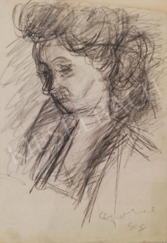 Eladó  Czóbel Béla - Női fej festménye
