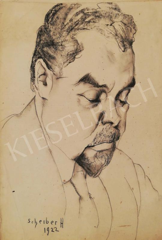For sale  Scheiber, Hugó - Man portrait 's painting