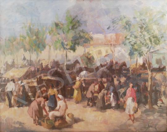 Eladó Jánoska Tivadar - Lóvásár festménye