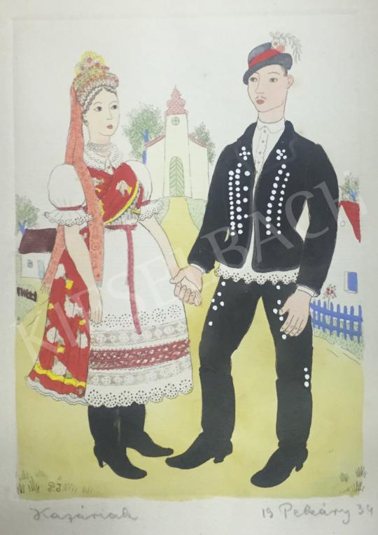 Eladó Pekáry István - Kazáriak, 1934 festménye