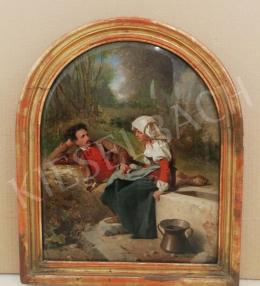 Ismeretlen festő - Szerelmesek a kútnál