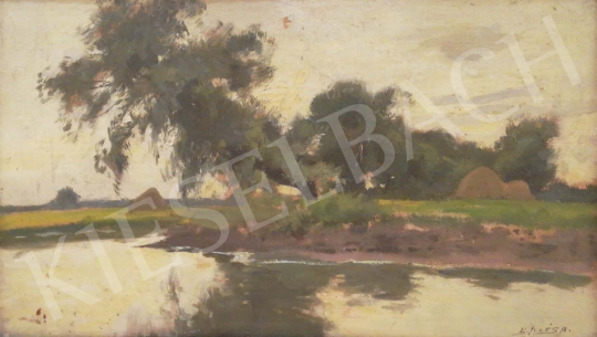 For sale  Edvi Illés, Aladár - Riverside landscape 's painting