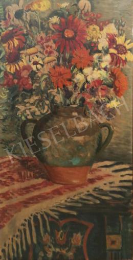 Vörös Géza - Műtermi csendélet mezei virágokkal