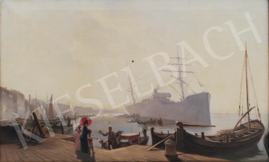 For sale Unknown painter - Venetian harbor  's painting