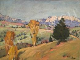 Pataky, Etelka (Gidófalvi Istvánné) - Autumn hilly landscape