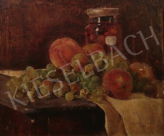 Eladó Kosztolányi Kann Gyula - Asztali csendélet gyümölcsökkel festménye
