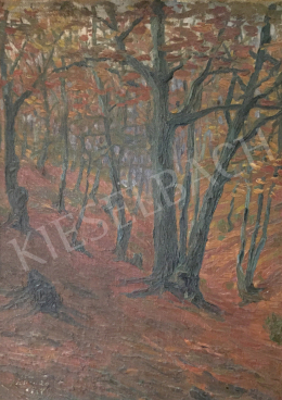 Unknown painter - Autumn forest