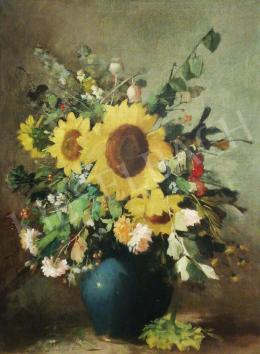 Kömpöczi Balogh, Endre - Flower Still Life with Sunflowers