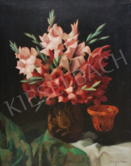 For sale Molnár Z., János - Flower Still Life with Gladiolus 's painting