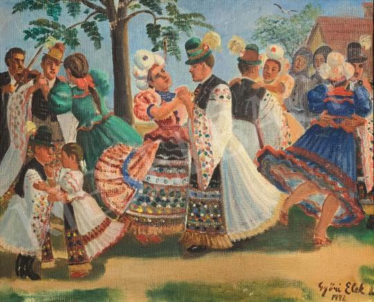 Eladó Győri Elek - Falusi mulatság festménye