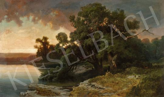 For sale Telepy, Károly - Landscape with Hunters 's painting