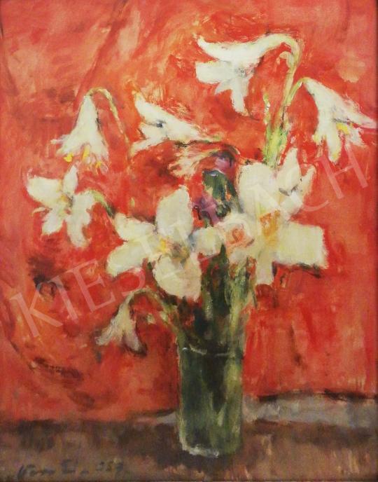 For sale Vass, Elemér - White Lilies, 1937 's painting
