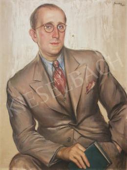 Sárossy Eta - Fiatal bankár portréja